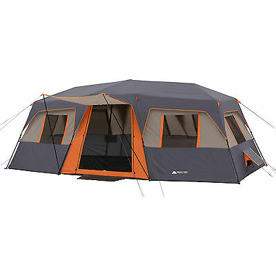 Large Instant Camping Tent 12 Person Cabin Outdoor Family Travel Shelter Orange