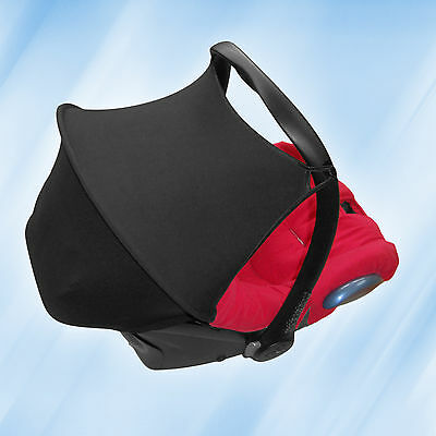 Maxi Cosi Cabriofix Sun Canopy Hood Shade UV Protection Black