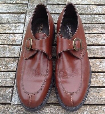 VINTAGE MEN'S STRACAM HAND MADE BROWN LEATHER SHOES Size 43/9