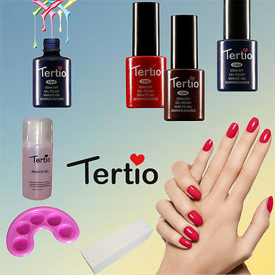 KIT SEMIPERMANENTE UNGHIE SMALTO TERTIO GEL POLISH 10ml NAIL ART 3 COLORI