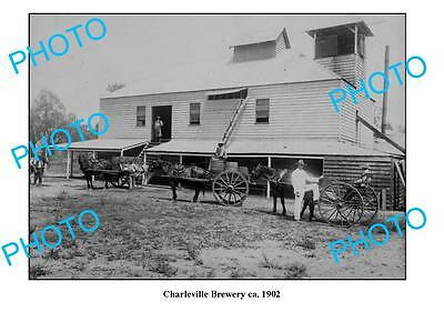 OLD LARGE PHOTO CHARLEVILLE BREWERY c1902 QLD