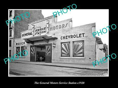OLD HISTORIC PHOTO OF THE GENERAL MOTOR SERVICE STATION, BUICK, CHEVROLET c1920
