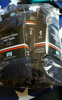 Girls age 11 navy school tights 3pairs bnwt