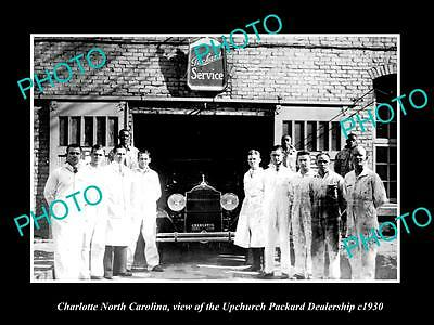 Old Large Historic Photo Of Charlotte North Carolina, The Packard Car Store 1930