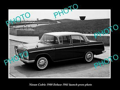 Old Large Historic Photo Of 1961 Nissan Cedric 1900 Deluxe Launch Press Photo 2