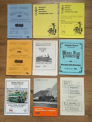 Job Lot Of Vintage Model Railway & Engineering Exhibition Programmes & Guides