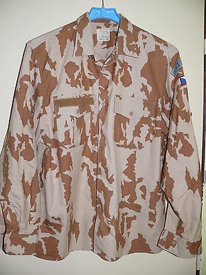 ORIGINAL COMBAT UNIFORM - DESERT SHIRT M-2000 CZECH ARMY-TODAY (NEW) size XL