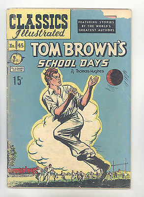 Classics Illustrated #45 HRN 64 VG Fleming, Tom Brown's School Days