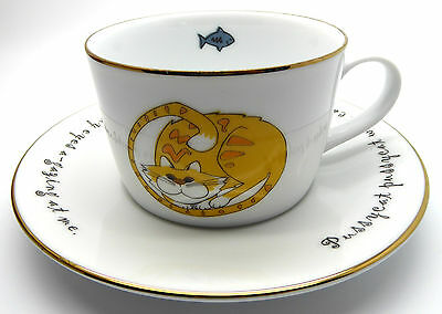 Lovely Collectable Cat And Mouse Cup And Saucer By Karen Weston Produced In 2000