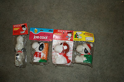 Dog toys Snoopy Squeakers Group 4 in total