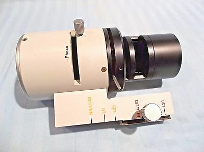 LEITZ WETZLAR DIAVERT microscope parts: PHACO LIGHT ILLUMINATOR FILTER ASSEMBLY