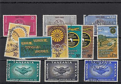 East Africa.12 -- 1964/5 Used Stamps On Stockcard.