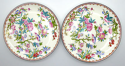 """Two Vintage Mintons Hand Painted Plates Saucers In The Cuckoo Pattern 6.1/2"""""""
