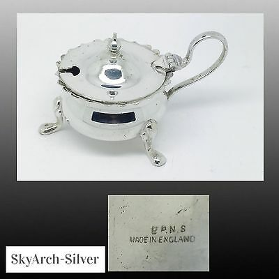 SILVER PLATED Mustard Pot Silver Plate Mustard Pot c1920s