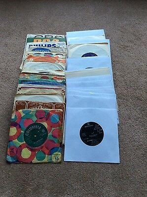 "collection /job lot of 62  1960s 7"" vinyl records . 45rpm"