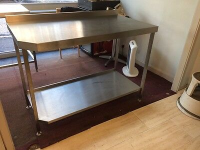 Stainless Steel Table 1300 x 700 x 950 with Shelf