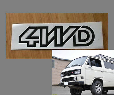 VW 4WD Decal for Syncro 1986-91, Volkswagen Decal