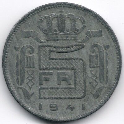 Belgium : 5 Francs 1941 French Legend