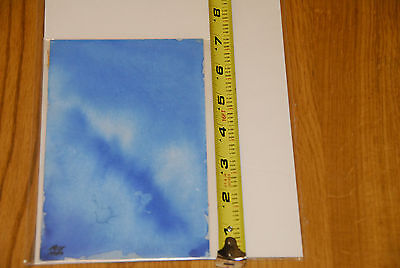 Frank Kelly Freas Abstract Original Painted Fine Signed Art Blue Windswept Sky !