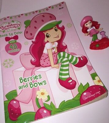 Strawberry Shortcake & Her Kitten TCFC Collectible Figurine BONUS COLORING BOOK!