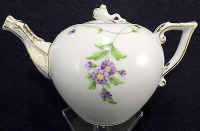 HEREND IMOLA FLOWERS TEAPOT,FOR 2 TEA CUPS,12fl OZ HOLD,ROSE LID END