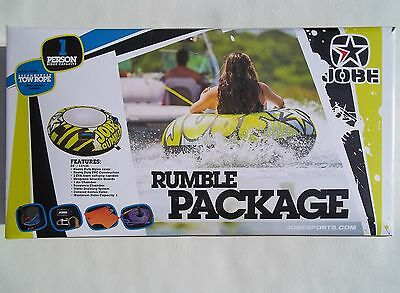Jobe Rumble Package 1 Person Towable Inflatable Ringo Disc Tube Watersports Toy
