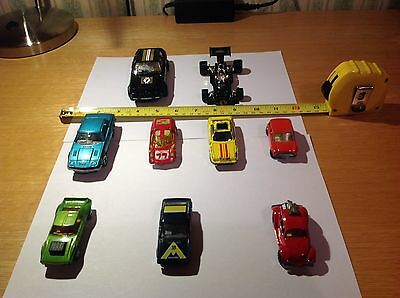 job lot collection of 9 vintage model sports cars