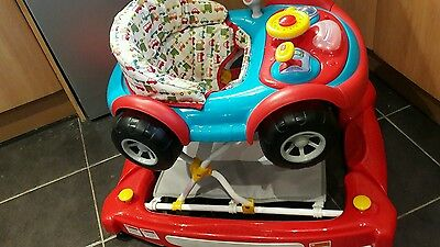 Mothercare 2 In 1 Baby Walker Car Red & Blue