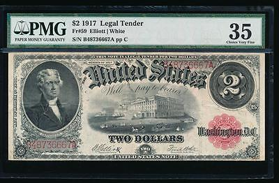 AC Fr 59 1917 $2 Legal Tender PMG 35 comment