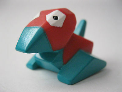 PORYGON stamped Bandai 1996 Pokemon plastic figure about 1 inch tall