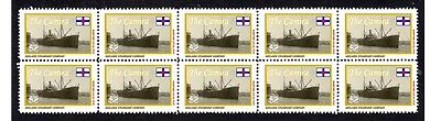 Camira Adelaide Steamship Co Strip Of 10 Mint Stamps