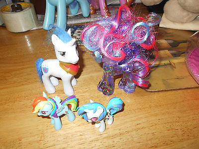 My Little Pony Luna glitter globe water pony and 3 other ponies