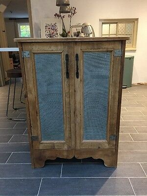 Lovely Mesh Front Rustic Cupboard
