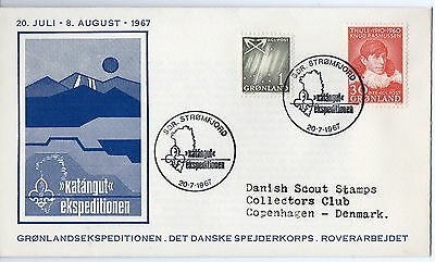 Greenland 1967 Scouts  Postal History  Cover Xf