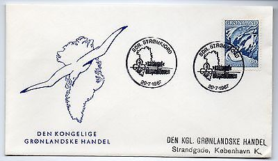 Greenland 1967 Marine life Whales on Special Scouts Cover XF