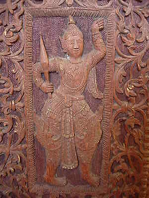 Old Asian Solid Wooden Hand Craved Exclusive Panel