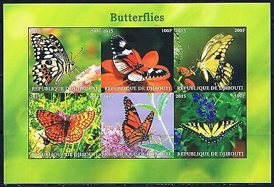 Bloc Sheet Papillons Butterfly IMP Neuf MNH ** Djibouti 2011 Private local/issue