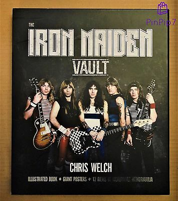*** Iron Maiden ''the Vault'' Hardback Book *** Includes Posters & Memorabilia