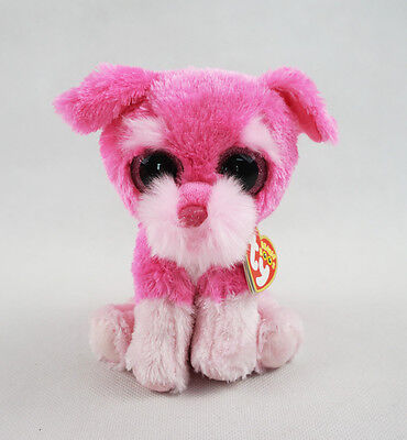"6"" TY Beanie Boos With Hang Tag Cherry The Dog Glitter Eyes Plush Stuffed Toys"