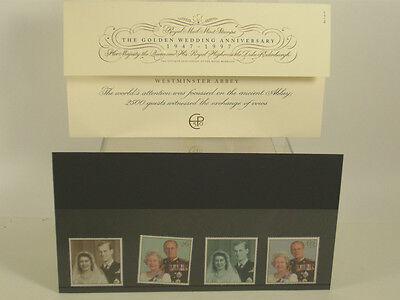 Queen England Royal Golden Wedding Anniversary 1997 Royal Mail Mint Stamp Set