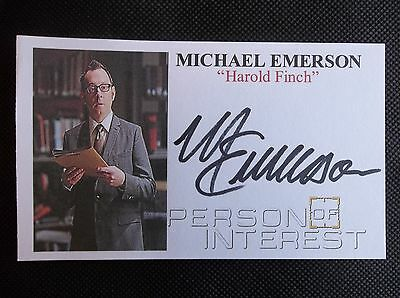 """""""Person of Interest"""" Michael Emerson Autographed 3x5 Index Card"""