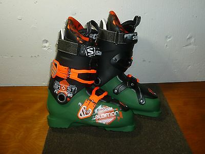 BRAND NEW SALOMON GHOST FS 80 SKI BOOTS Size 26.5/ 8.5 Dark Green Black Orange