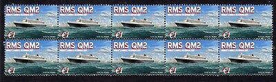 Queens Mary 2 Worlds Largest Ship Mint Stamp Strip 5