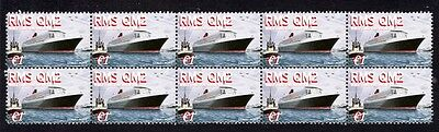 Queens Mary 2 Worlds Largest Ship Mint Stamp Strip 3