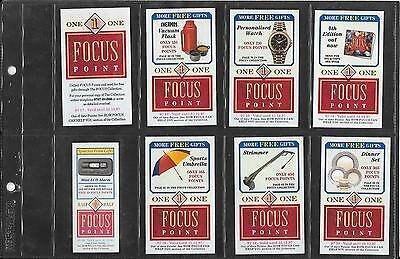 Packet Inserts - Wills / Embassy Focus - 7 Large And 1 Small Voucher