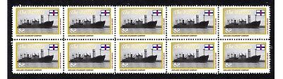 Baroota Adelaide Steamship Co Strip Of 10 Mint Stamps
