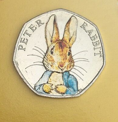 *UNCIRCULATED* Beatrix Potter Peter Rabbit Coloured 50p 2016 Collectible Coin