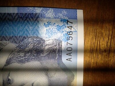 AA 075647 royal bank polymer £5  very very low number