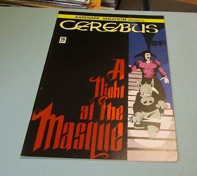 May 1980 Cerebus A Night at the Masque Comic Book #16 Aardvark-Vanaheim