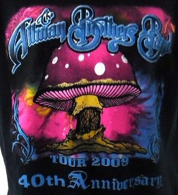 Allman Brothers Band 2009 40th Anniversary Tour Concert Tee Size L Authentic